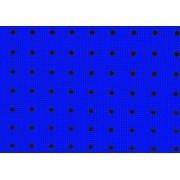 Placa Bolinhas Poa Duo Preta Fundo Azul Royal 40X60cm