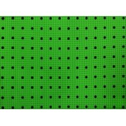 Placa Bolinhas Poa duo Preta Fundo Verde 40X60cm