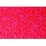 Placa Bombeiro Branco fundo Vermelho 40x60cm