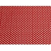 Placa de Bolinhas Grande de 6mm Branco Fundo Vermelho 40x60