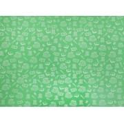 Placa Material Escolar Branco Fundo Verde Cítrico 40x60cm