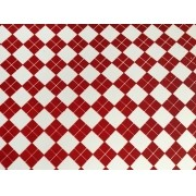 Placa Xadrez(3) Vermelho Fundo Branco 40x60cm