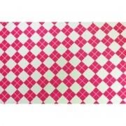 Placa Xadrez(3) Rosa Fundo Branco 40x60cm