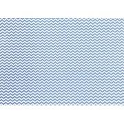 Placa Chevron Azul e Branco 40x60cm