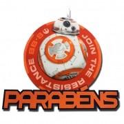 STAR WARS - PAINEL PARABÉNS BB8   68,0X68,0CM