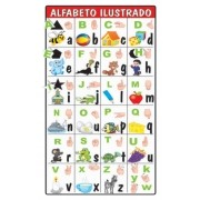 VOLTA AS AULAS - ALFABETO ILUSTRADO 90x45CM