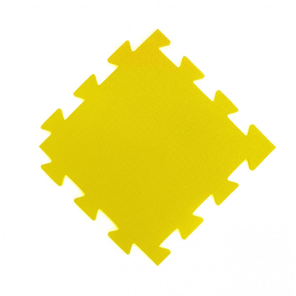 Tatame 50x50cm Com 10mm de Espessura   Amarelo  -