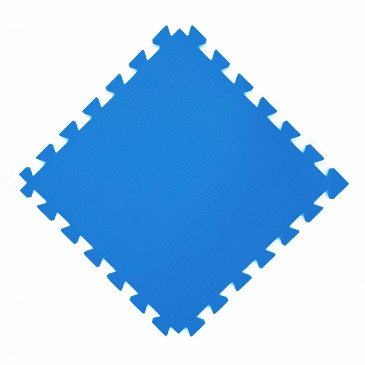 Tatame  100x100cm Com 10mm de Espessura  Azul Royal  - Brindes Visão loja