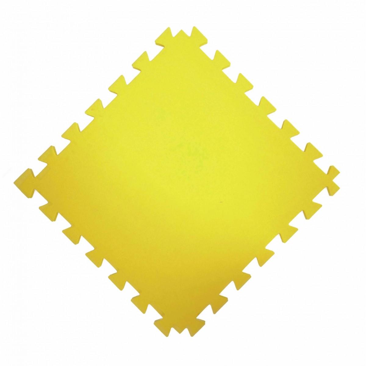 Tatame  100x100cm Com 10mm de Espessura  Amarelo  - Brindes Visão loja