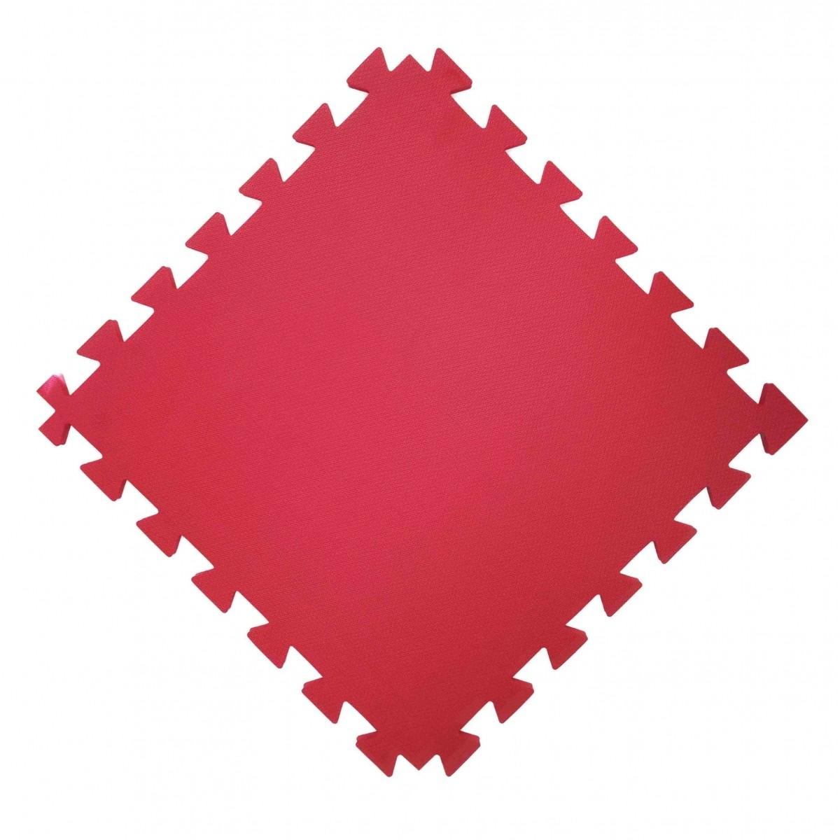 Tatame  100x100cm Com 20mm de Espessura    Vermelho  - Brindes Visão loja