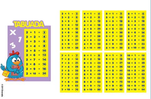TABOADA GALINHA PINTADINHA PEQUENA COM 10 UNIDADES  16x13CM  -