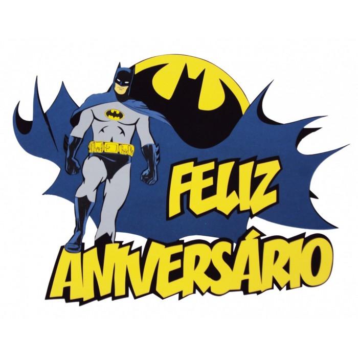 Faixa Feliz Aniversário Batman  - Brindes Visão loja
