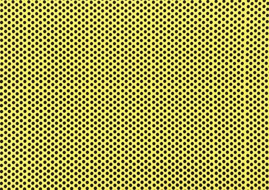 Placa de Bolinhas Grande de 6mm Preta Fundo Amarelo  40x60  -