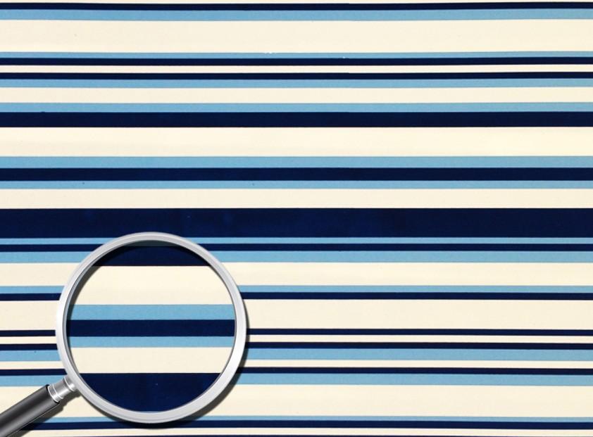Placa Listrada(2) Tons de Azul 40x60cm  -