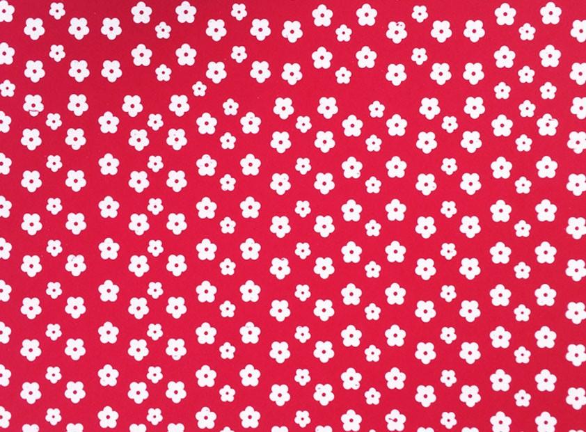 Placa Flor(2) Branca Fundo Vermelho  40x60cm  - Brindes Visão loja