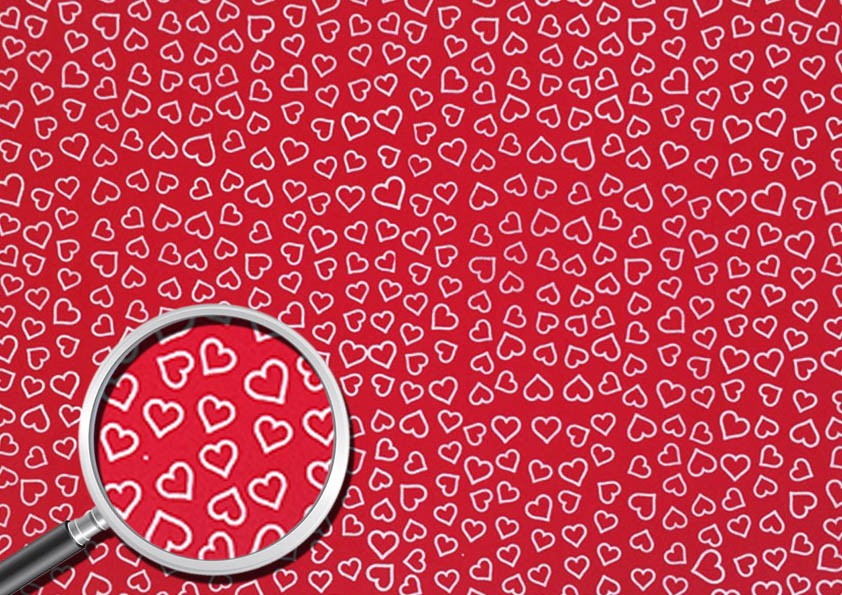 Placa Coração Branco Fundo Vermelho 40x60cm  - Brindes Visão loja