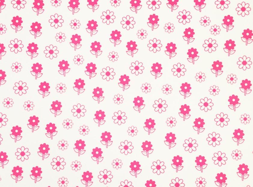 Placa Flor 6 Rosa Fundo Branco 40x60cm Brindes Vis 227 O