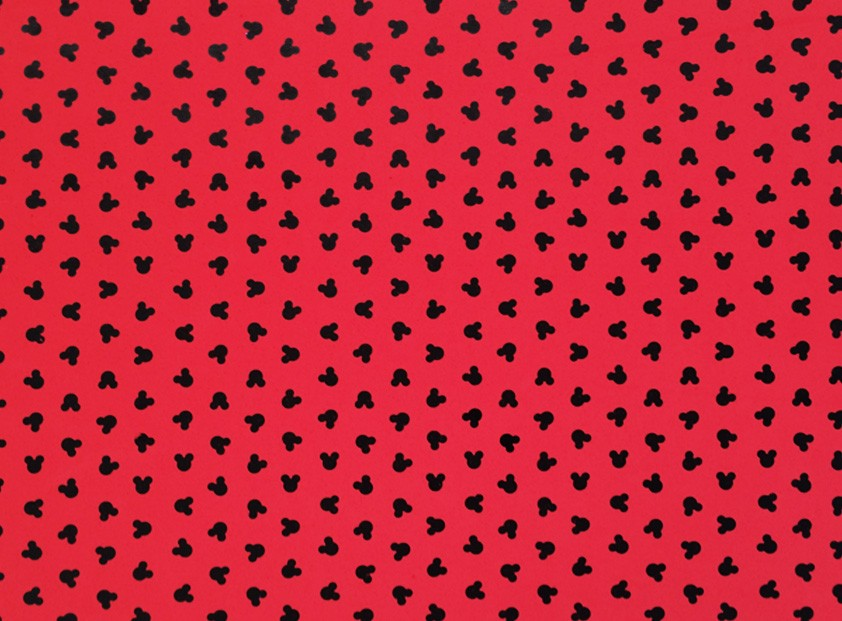 Placa Ratinho Preto Fundo Vermelho  40x60cm  -