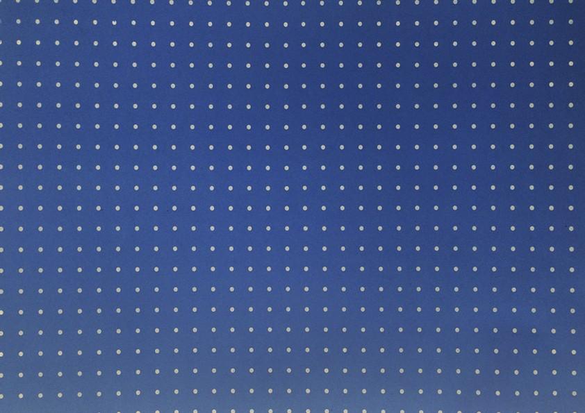 Placa Bolinha Media de 4mm Branca e Fundo Azul  40X60cm  -