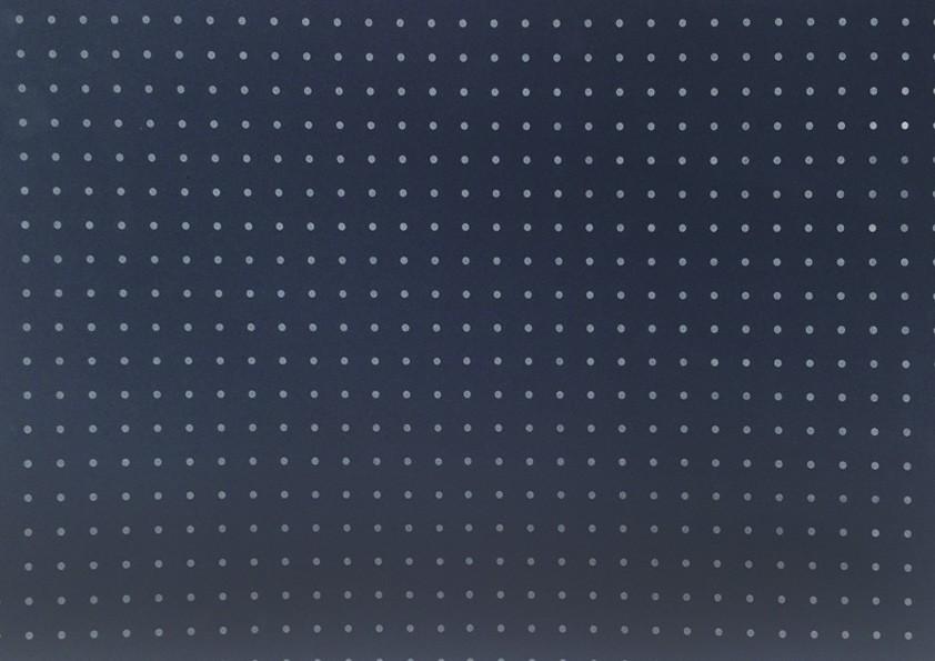 Placa Bolinha Media de 4mm Branca Fundo Azul Marinho 40x60cm  -