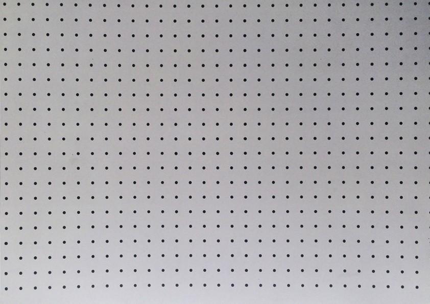Placa Bolinha Media de 4mm Preta e Fundo Cinza 40x60cm  -