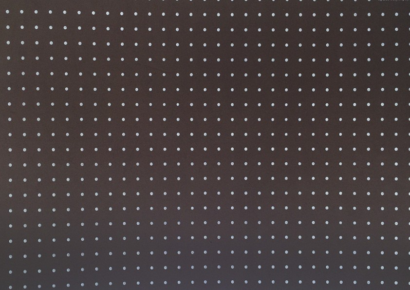 Placa Bolinha Media de 4mm Branca e Fundo Marrom 40x60cm  - Brindes Visão loja
