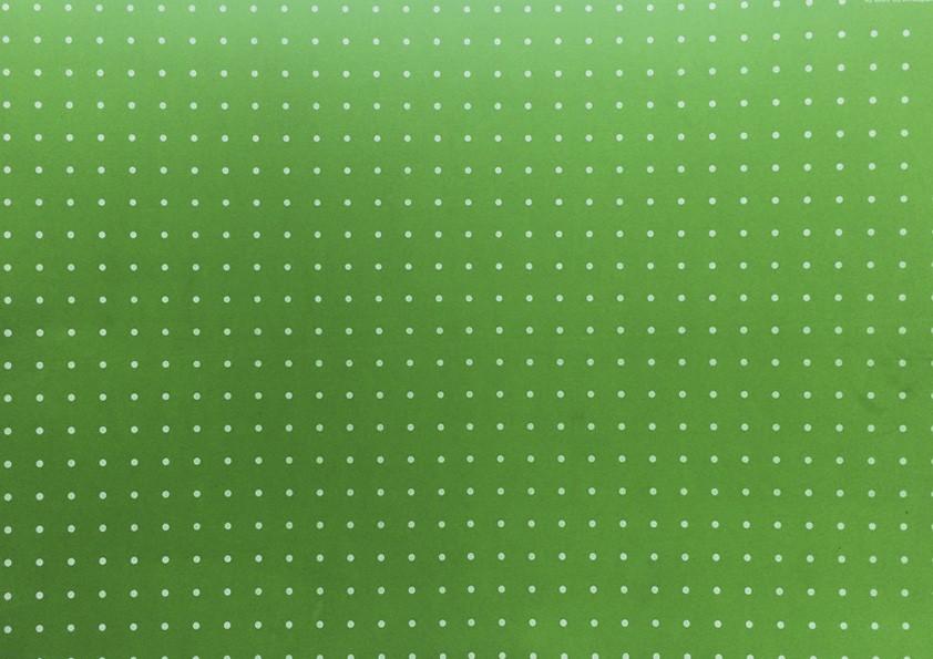 Placa Bolinha Media de 4mm Branca e Fundo Verde Cítrico 40x60cm  -