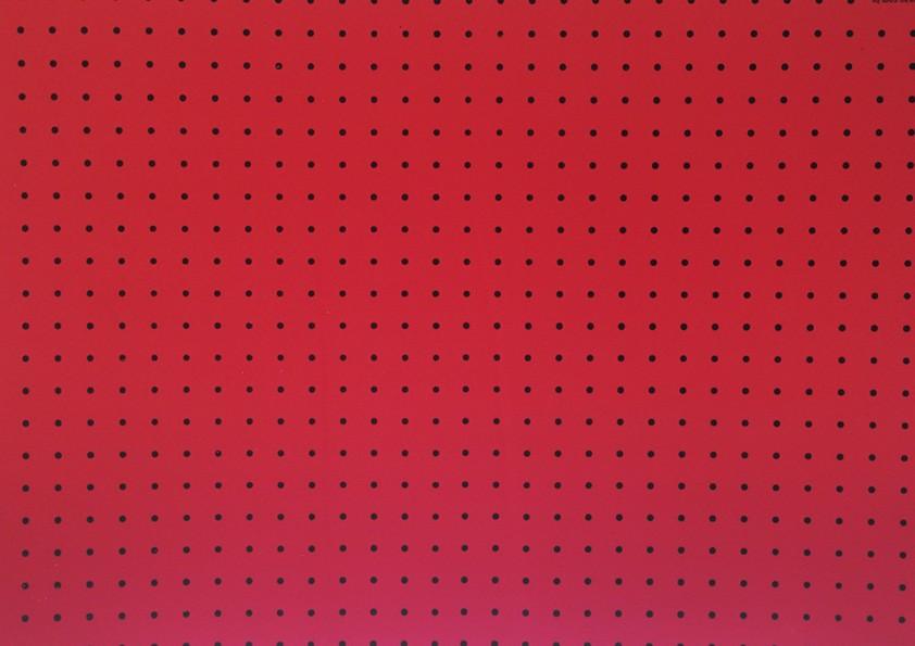 Placa Bolinha Media de 4mm Preta e Fundo Vermelho 40x60cm  -