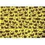 Placa Girafa Mancha Marrom Fundo Amarelo 40x60cm