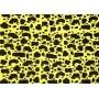 Placa Girafa Mancha Preta Fundo Amarelo 40x60cm