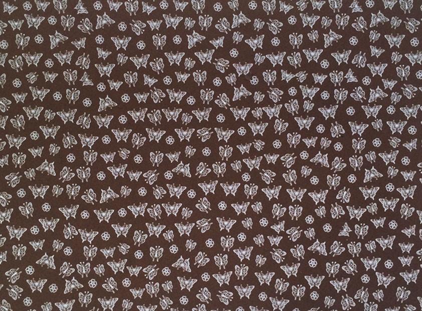 Placa Borboleta Branca Fundo Marrom 40x60cm  -