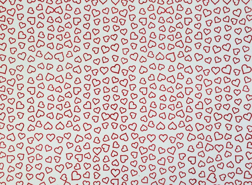Placa Coração Vermelho Fundo Branco 40x60cm  -