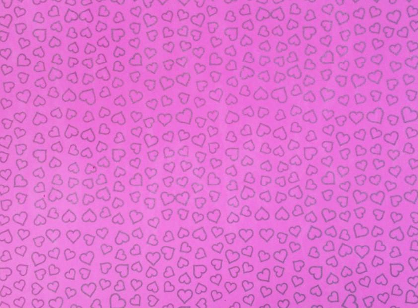 Placa Coração Prata Fundo Rosa 40x60cm  -