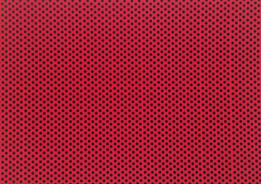 Placa de Bolinhas Grande de 6mm Preta Fundo Vermelho 40x60  -