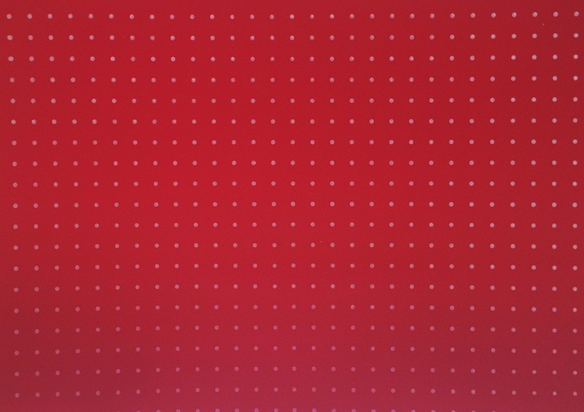 Placa Bolinha Media de 4mm branca e Fundo Vermelho 40x60cm  -