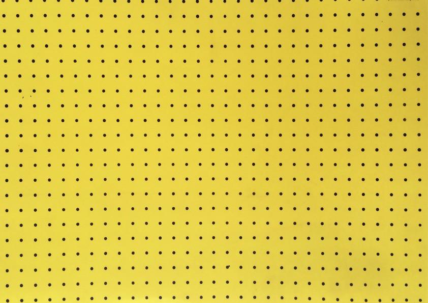 Placa Bolinha Media de 4mm Amarelo e Fundo Preto 40x60cm  -