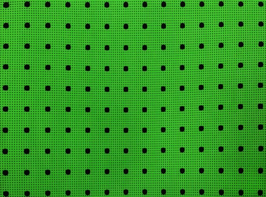 Placa Bolinhas Poa duo Preta Fundo Verde 40X60cm  - Brindes Visão loja