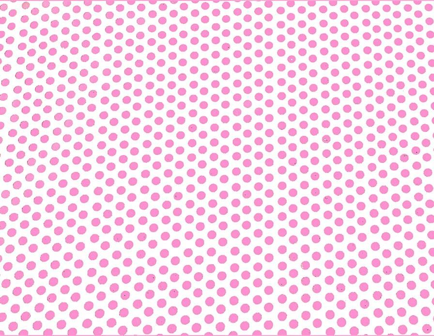 Placa de Bolinhas Grande de 6mm Rosa Fundo Branco 40x60  -