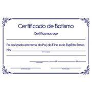 Certificado de Batismo (unidade)