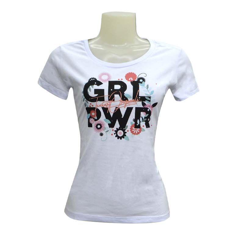 Camiseta Traxart Feminina GRL PWR TXT - DV-041
