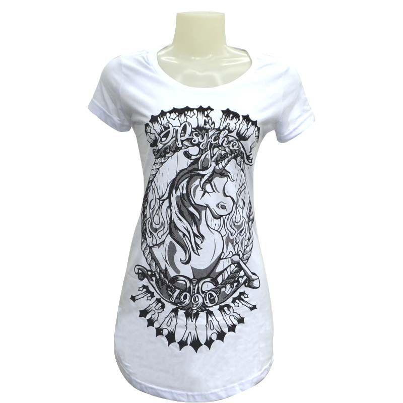 Camiseta  Traxart Long Line Swag Feminina Traxart Psycho - DV-044