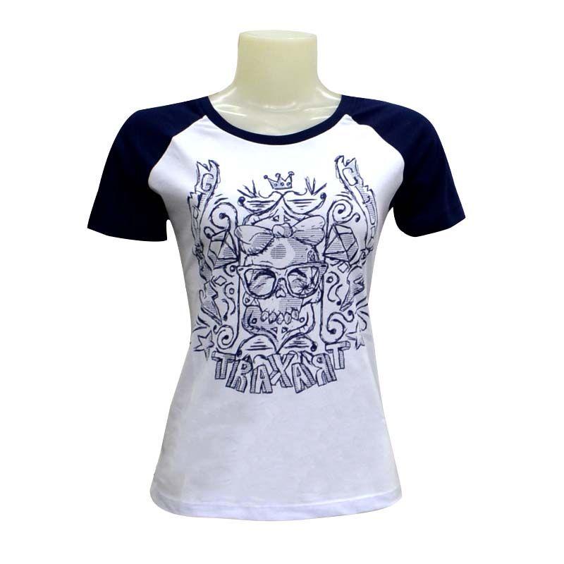 Camiseta Traxart Raglam Feminina - DV-052