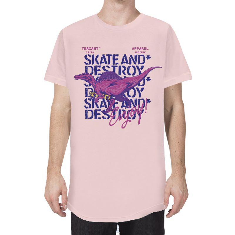 Camiseta Traxart Longline Destroy & Enjoy - DW-222