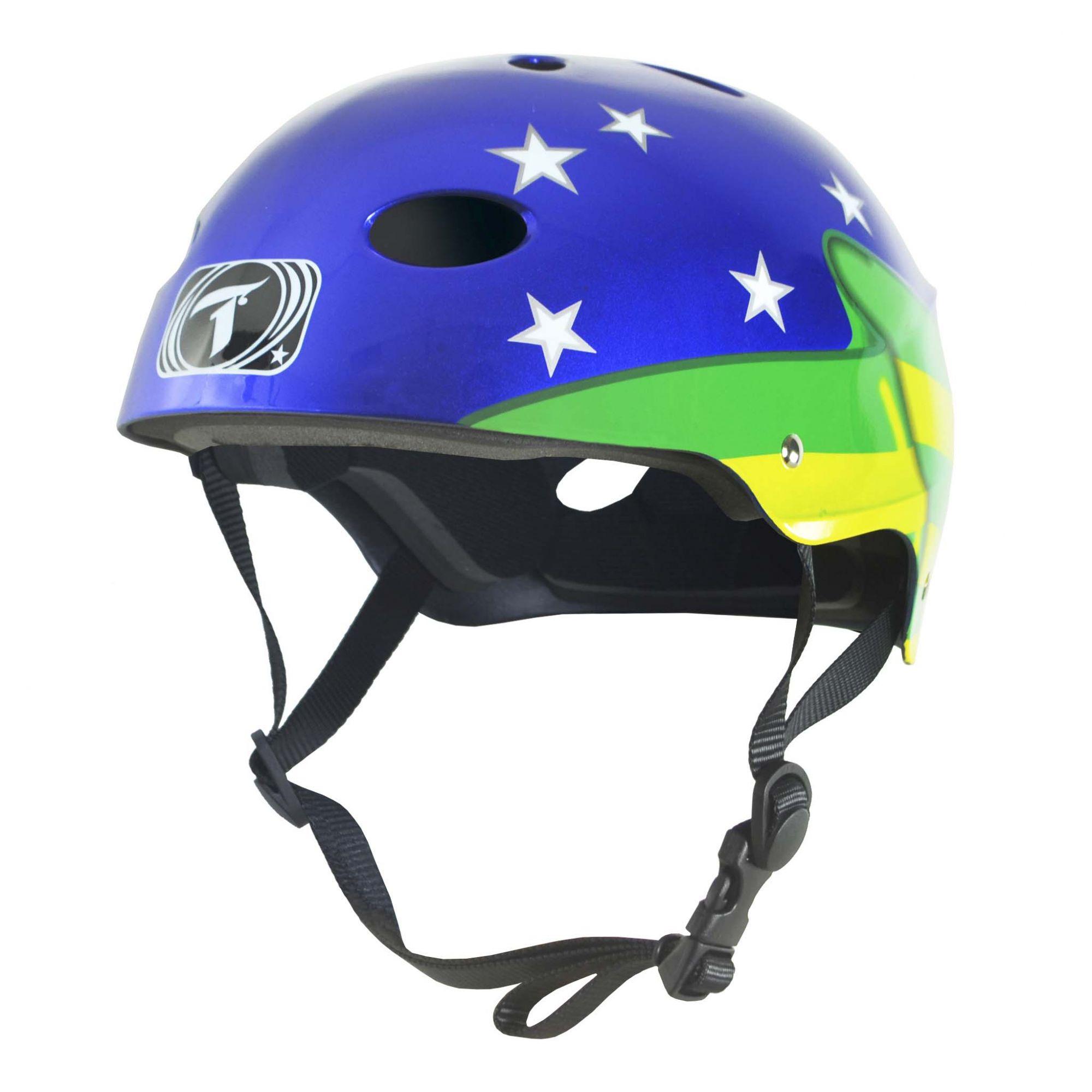 Capacete Esportivo Profissional Brazil Flag  Para Esportes Skate / Patins / Bike - Traxart