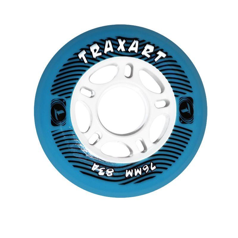 Jogo de Rodas Traxart Fitness 76mm/83A - Azul