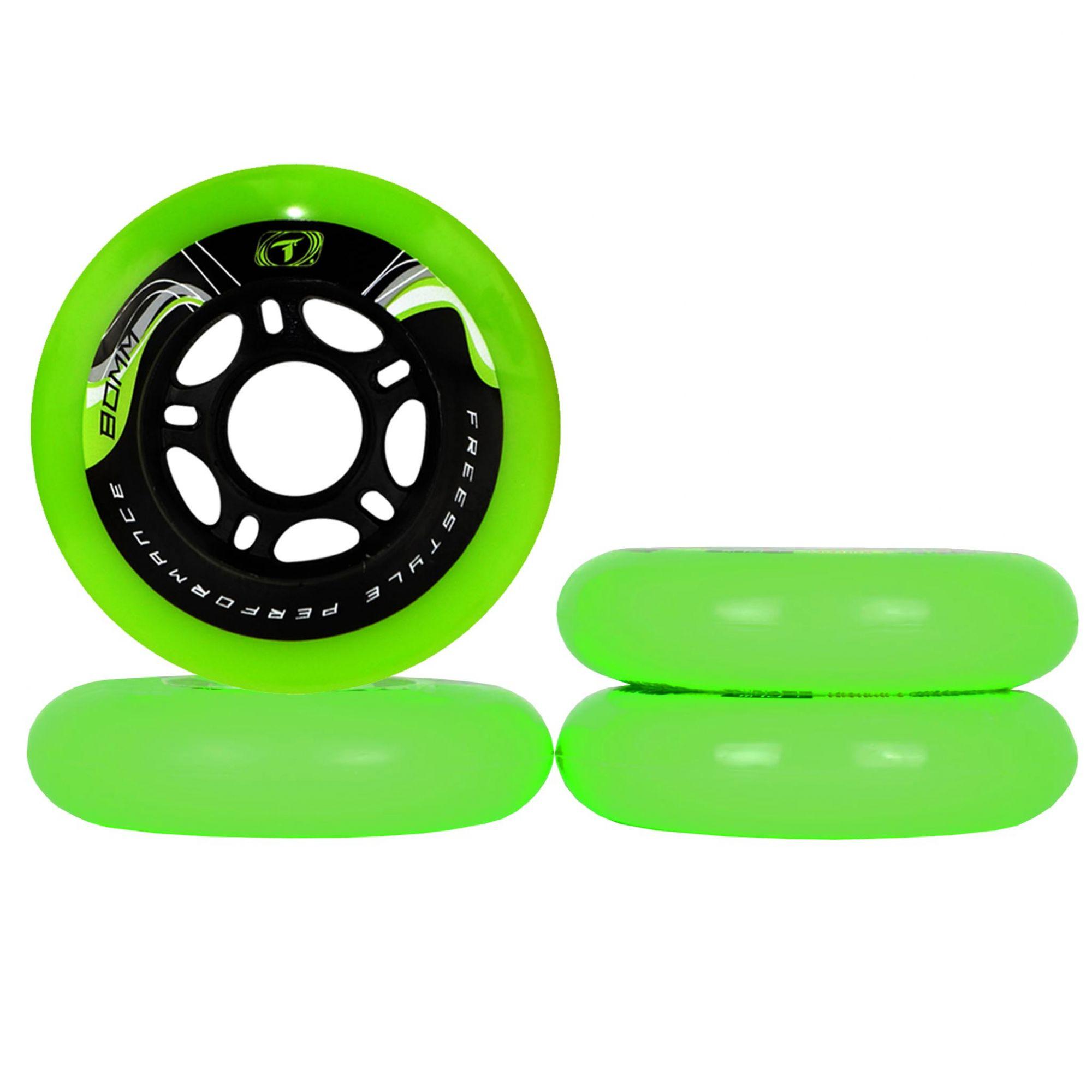 Jogo de Rodas Traxart Freestyle Krazyleg 80mm - Verde