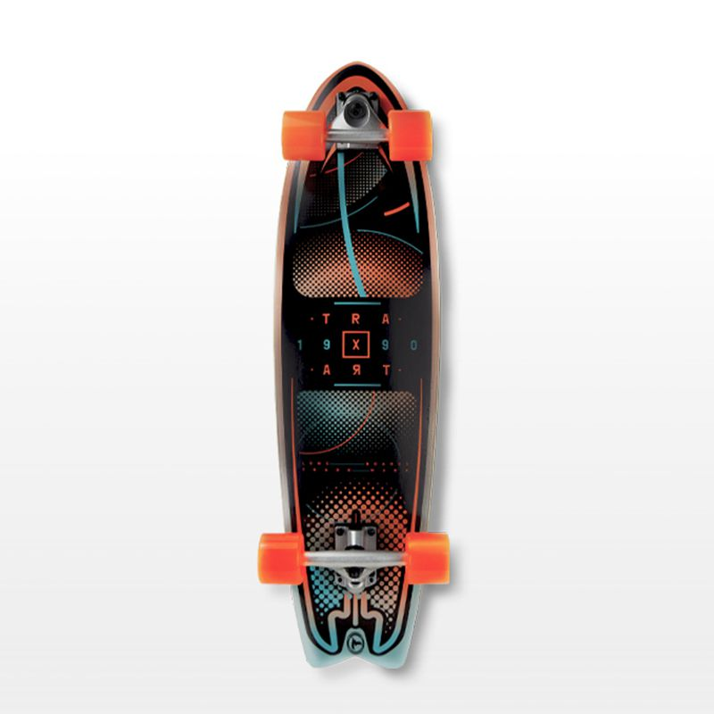 "Longboard Traxart Fishtail 33"" - Com simulador de Surf - DW-201"