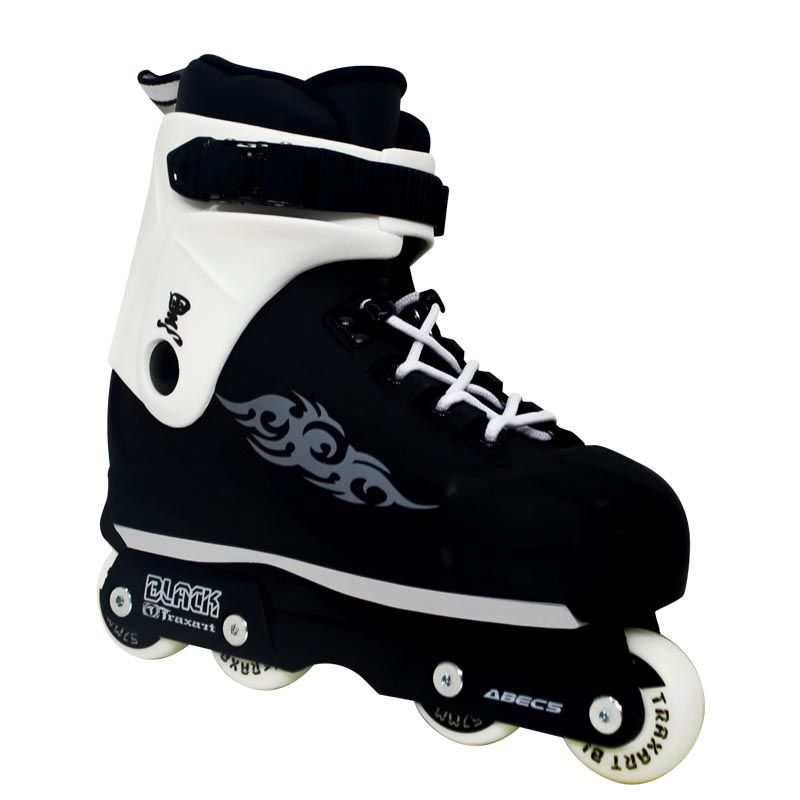Patins Traxart Black Tribal (Street/Vertical) - Rodas 57mm ABEC-5 Cromo