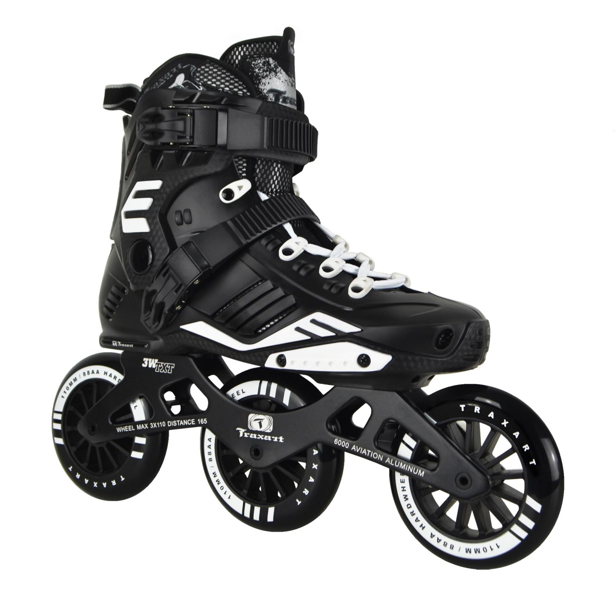 Patins Traxart Freestyle 3W TXT - Rodas 110mm ABEC-7 Cromo