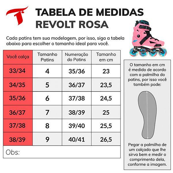 Patins Traxart Freestyle Revolt - Rose - Rodas 80mm ABEC-9 - 10% À VISTA NO BOLETO OU 1X NO CARTÃO